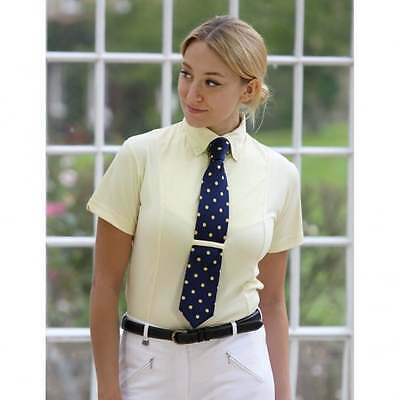Shires Adults Tie Show Shirt Short Sleeved Yellow