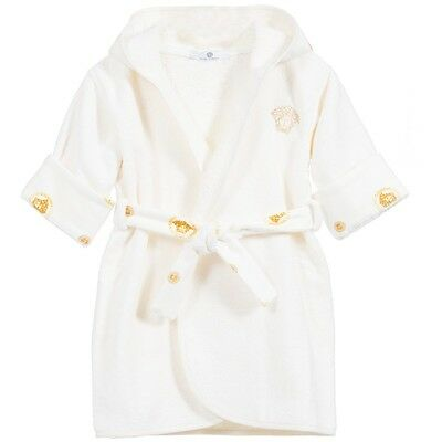 Young Versace Baby Gold Medusa Cotton Towelling Bath Robe Dressing Gown 3 Years