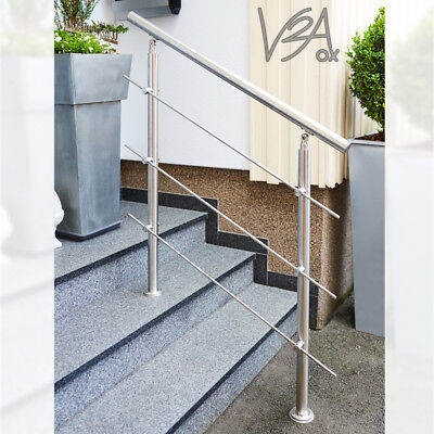 Stainless Steel Landing Staircase Railing Balustrade Indoor / Outdoor V2Aox