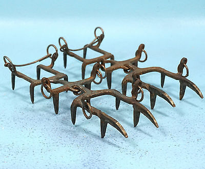 Antique Iron Swiss Crampons Mountian Ice Climbing Fralling Sz 37 Cabin Decor