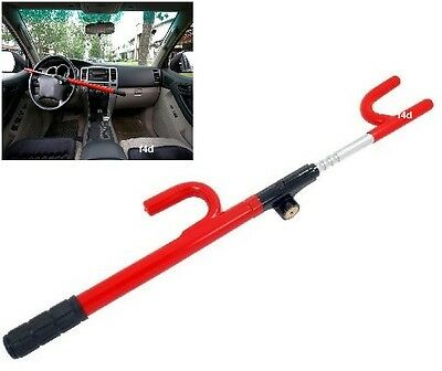 Universal Heavy Duty High Security Car Van Steering Wheel Lock Crook Lock New