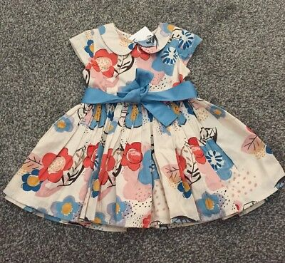 M&S Baby Girls Dress 12-18 Months New With Tag