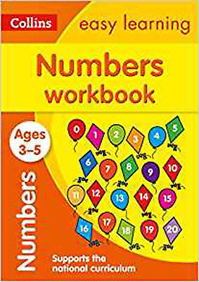 Numbers Workbook Ages 3-5: New Edition (Collins Easy Learning Preschool), New, C