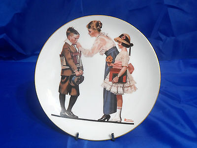 """NORMAN ROCKWELL 1980 """"Ready for School"""" Plate Three - From the Early Works #1163"""