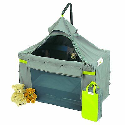 Content and Calm Cot Canopy Cage Promotes Sleep and Tranquility Open Package