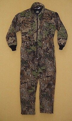 CABELA'S Brown Camo FLEECE BODY SUIT Warm Winter Hunting Coverall Size 42/44