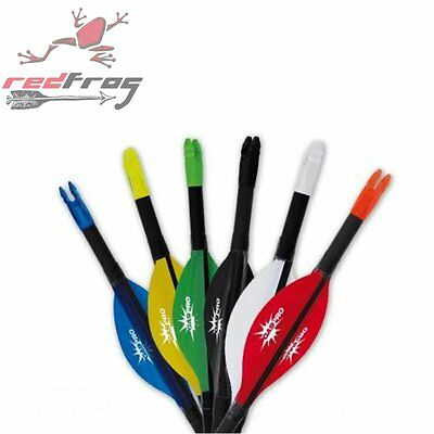 "New GasPro Archery 2"" Spin Wing Vanes Parabolic Medium up to 45lbs Draw Weight"