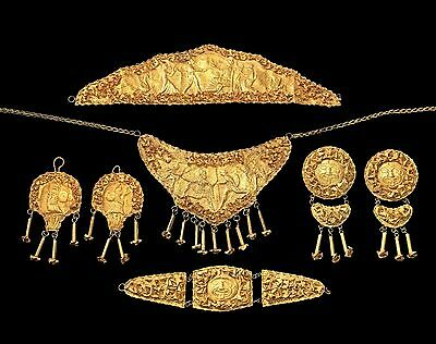 Collection of jewellery Etruscan - 19th century – Grand Tour – Etruscan Revival.