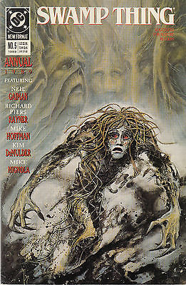 SWAMP THING ANNUAL 5...VF/NM...1989...Neil Gaiman,Mike Mignola...Bargain!