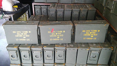 8 Pack 30 Cal official Ammo Cans Box Army Military M19A1Grade 1