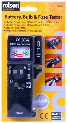 Rolson Battery, Bulb & Fuse Tester