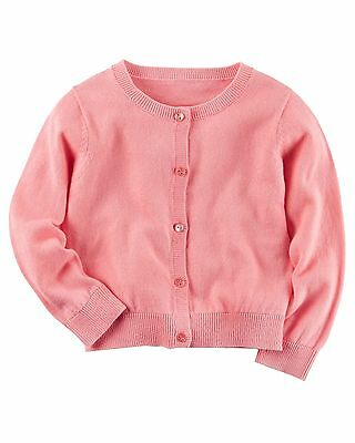 Carter's Toddler Girls' Pink Cardigan with Rhinestone Buttons NWT sweater