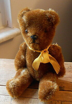 Small Vintage Brown Mohair Jointed Teddy Bear