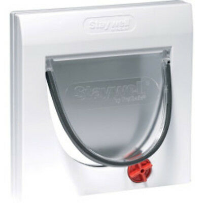 Petsafe Manual 4 Way Locking Classic Cat Flap White with Tunnel