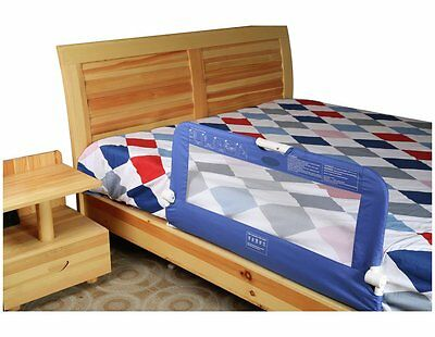 Blue Portable Child's Toddler's Bed Rail Safety Rail Sleep Guard L46 H92cm