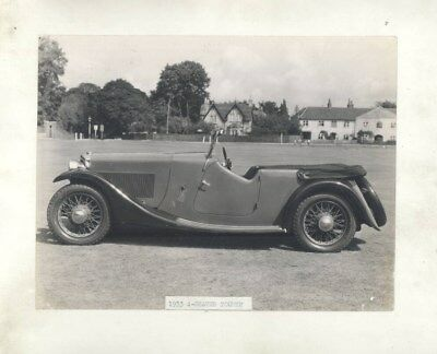 1933 AC 4 Seater Tourer ORIGINAL Factory Photograph wy2546