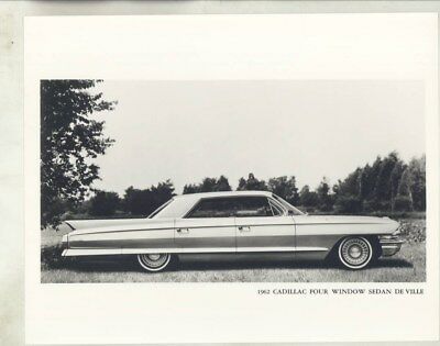 1962 Cadillac Four Window Sedan DeVille ORIGINAL Factory Photograph wy2556