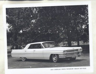 1964 Cadillac Four Window Sedan Deville ORIGINAL Factory Photograph wy2569