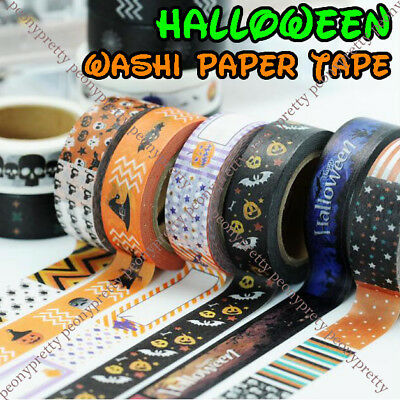 NEW10m halloween washi paper tape handmade craft scrapbook gift wrap home decor