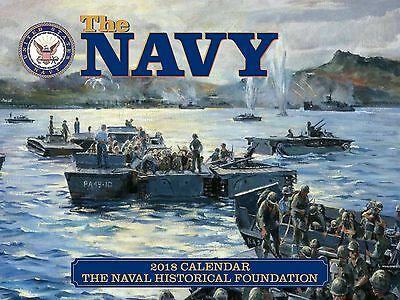 The Navy - 2018 Wall Calendar - Brand New - Military Art 1713