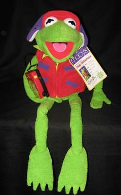 """NWT ~ Vintage Macy's Plush KERMIT THE FROG-TOGRAPHER New + Camera Hat & Vest 28"""""""