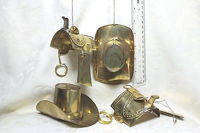 Thin Brass Hat and Saddle Ornaments, India Exotics, Hand Made in India