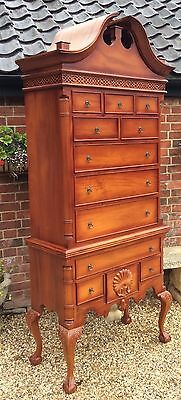Fabulous American Cherry wood Tall Boy Chest On Chest