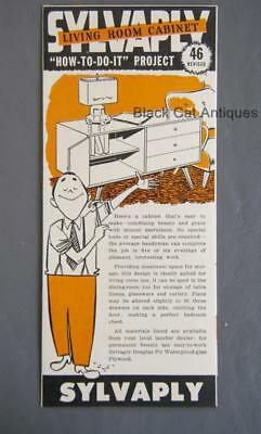 Vintage Sylvaply Living Room Cabinet How To Do It Project Brochure #46 (revised)