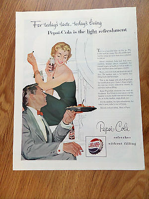 1954 Pepsi Cola Soda Ad Couple This is a Beautiful Time to Live In