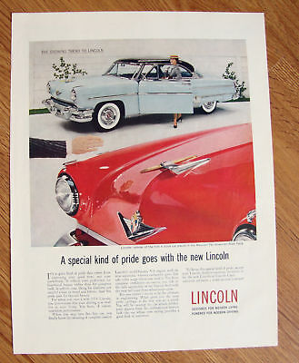 1954  Lincoln Ad  Growing Trend to Lincoln