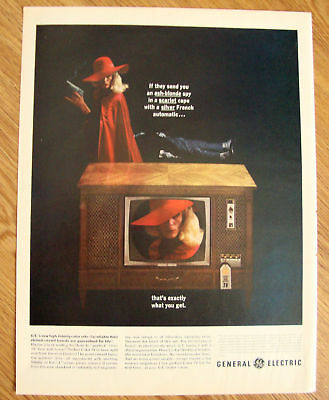 1963 General Electric GE TV Ad High Fidelity Color