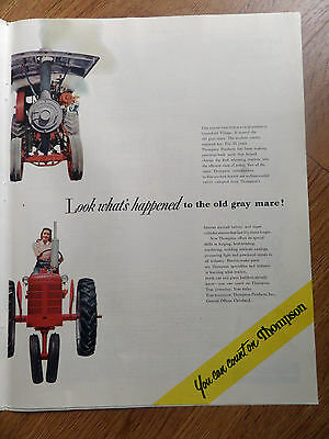1951 Thompson Products Ad  Look What's Happened to the Old Gray Mare Tractor