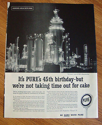 1959 Pure Oil Ad Cat Cracker Heart of Pure's Refining Operations