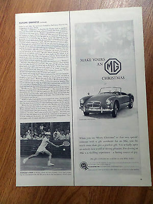 1959 BMC Motors Ad    Make ;yours an MG Christmas