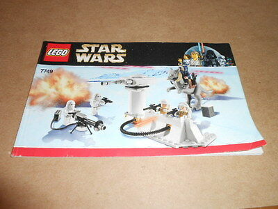 Lego Set 7749 Instructions Only Star Wars Echo Base Manual Booklet