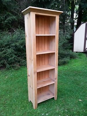 """Amish Built Reclaimed Barn Wood Cupboard, Cabinet, Bookcase-Unfinished-Pine-72""""H"""