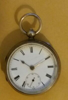 Silver pocket watch chester 1902