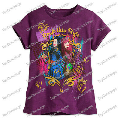 """DISNEY Store TEE for Girls DESCENDANTS 2 """"Rock This Style"""" T Shirt PICK Size NWT"""