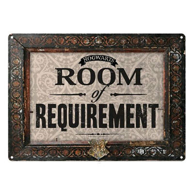 Harry Potter - Tin Sign Small Room of Requirement NEW Half Moon Bay