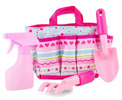 Melissa & Doug Girls Kids Garden Or Beach Bag And Tools - Great For Sandpit Too