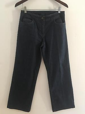 f7bee7fb Eileen Fisher Womens Size Small Jeans Denim Straight Leg Trouser Dark Wash