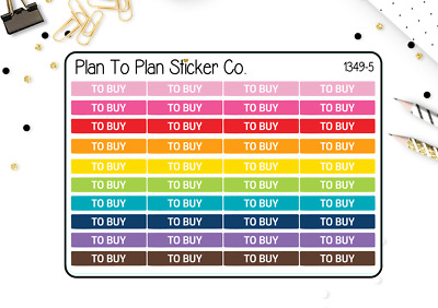 1349-5 To Buy Headers/Dividers Planner Stickers.