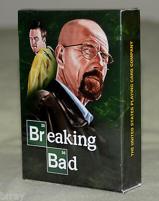 **NEW & SEALED** Breaking Bad Classic Green Playing Cards Poker Size Limited