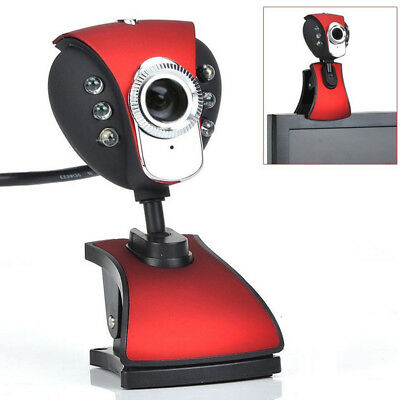USB 50M 6 LED Night Vision Webcam Camera Web Cam With Mic PC Laptop Webcam