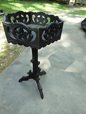 Very Unique & Rare Highly Carved Flower Box Planter Plant Stand F/ Scotland
