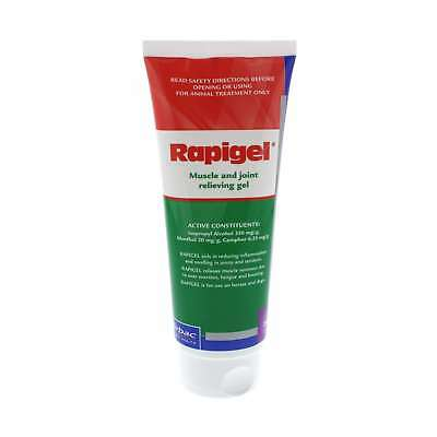 Rapigel Tube Muscle and Joint Relieving Gel Horse Equine Health 200g Virbac