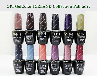 OPI Soak-Off GelColor ICELAND 2017 FALL Collection @PICK 1 Gel Polish / Base Top
