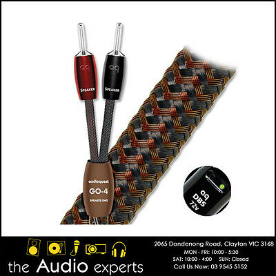 Audioquest GO-4 Speaker Cable with Banana Plugs - 3m pair