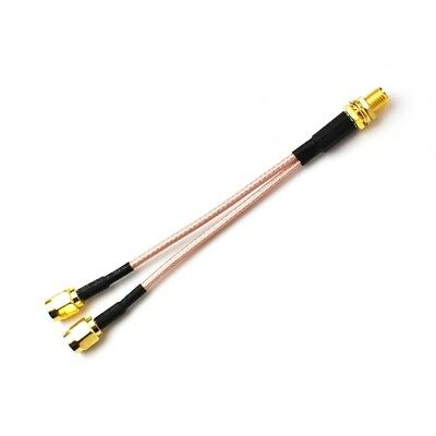 SMA Female to 2X SMA male RF coaxial cable Y type splitter pigtail RG316 30cm
