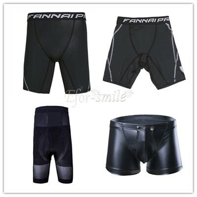 Mens Under Compression Base Layer Tights Gym Sports Workout RUNNING Shorts Pants